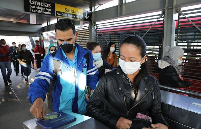 Muertos contagiados coronavirus Bogotá Colombia
