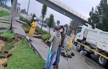 Sismo provocó colapso de puente peatonal en Chía y dejó sin agua a casi 130.000 habitantes
