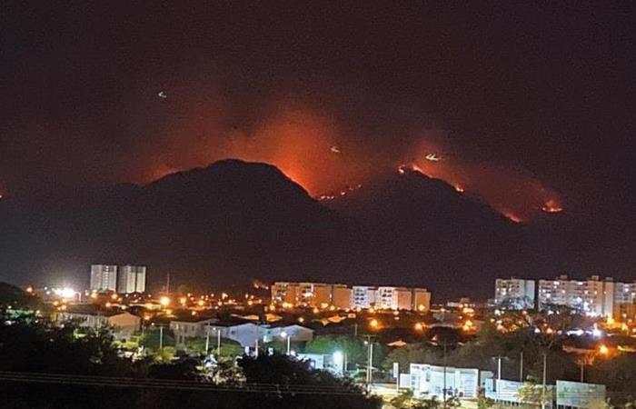 Alerta por incendio en la Sierra Nevada de Santa Marta