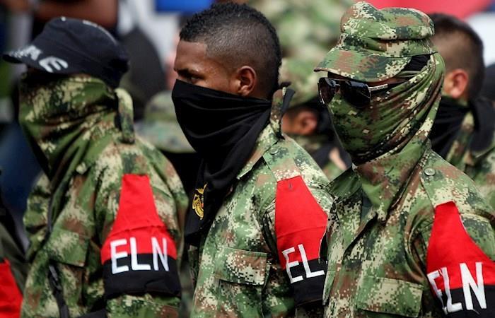 Guerrilleros activos del ELN. Foto: EFE