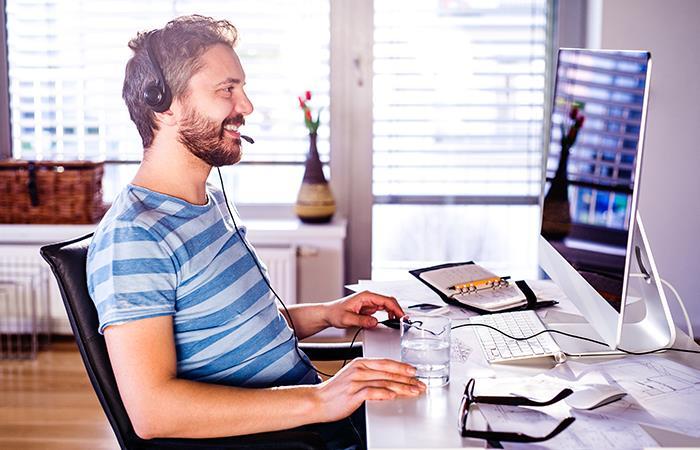 Hábitos saludables en el teletrabajo. Foto: Shutterstock