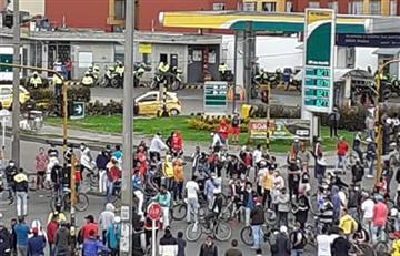 Cuarentena: Trabajadores 'cesantes' de la construcción bloquearon Suba en protesta