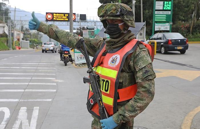 Militares frontera Colombia Ecuador Coronavirus