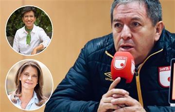 Claudia López y Marta Lucía Ramírez se unieron para 'regañar' al presidente de Santa Fe