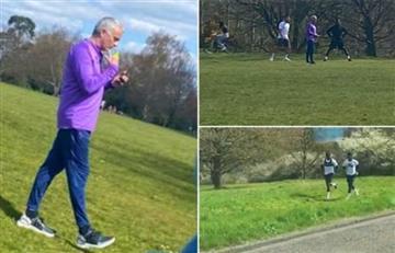 [VIDEO] Mourinho y Davinson se 'volaron' de la cuarentena para entrenar en un parque