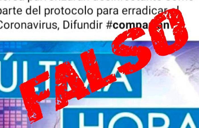 Las 'fake news' han sido ocurrentes durante la cuarentena en Colombia. Foto: Twitter