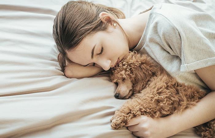 Dormir con tu mascota tiene más beneficios de los que crees. Foto: Shutterstock