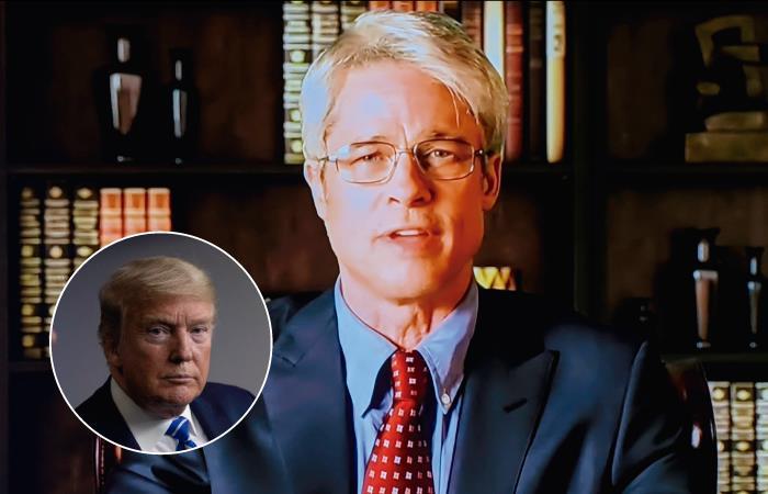 La burla de Brad Pitt a Donald Trump. Foto: Twitter