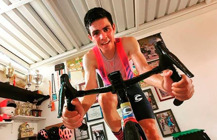 Sergio Higuita, pedalista colombiano. Foto: Instagram