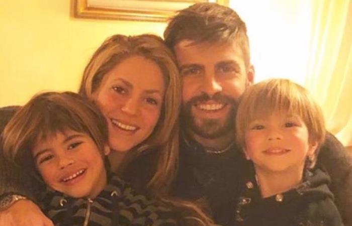 Shakira y Piqué se dejaron ver con sus hijos en la calle. Foto: Instagram