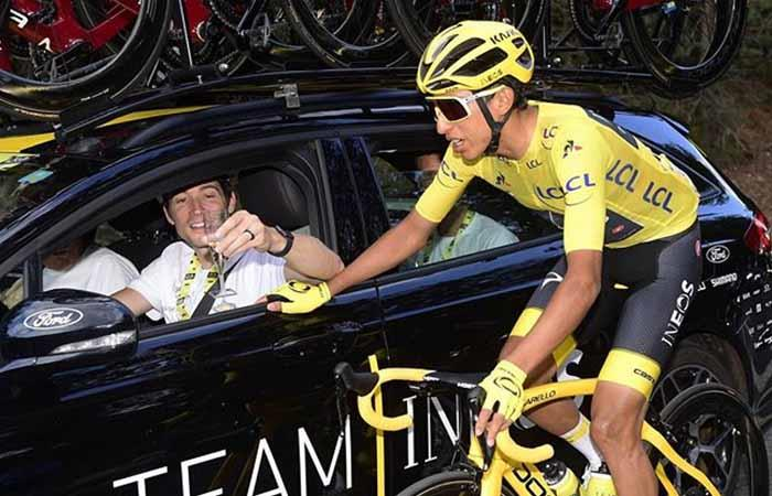 Egan Bernal líder Team Ineos Tour de Francia Chris Froome Geraint Thomas