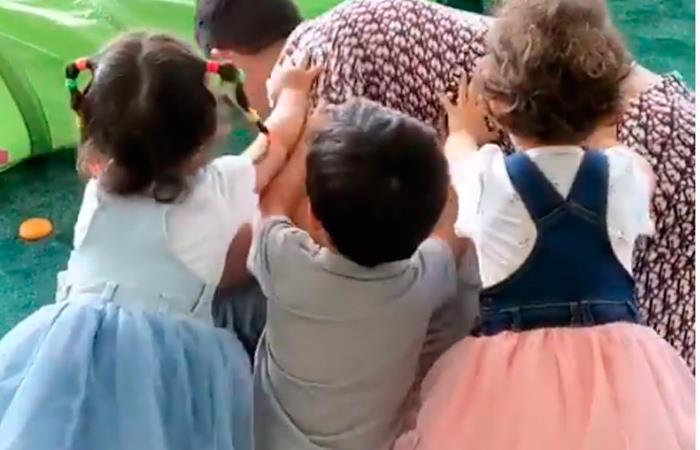 Cristiano Ronaldo juegos hijos esposa Georgina Rodríguez en familia