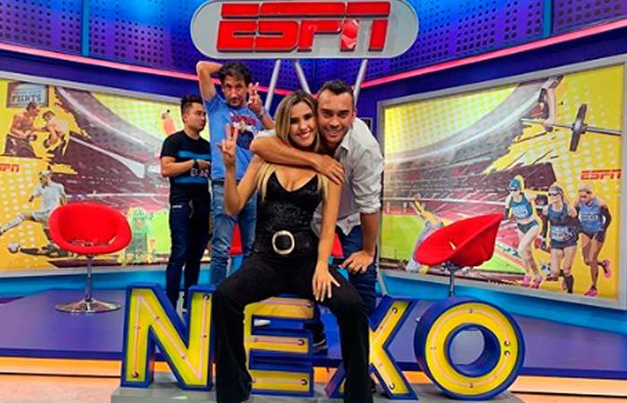 La periodista de ESPN María Juliana Correa en el programa Nexo. Foto: Perfil Oficial Instagram @mariajulic