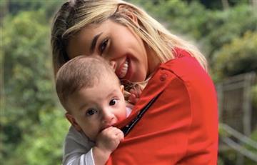 """""""Perdonen mi look"""", Melina Ramírez tras publicar tierno video bailando vallenato con su hijo"""