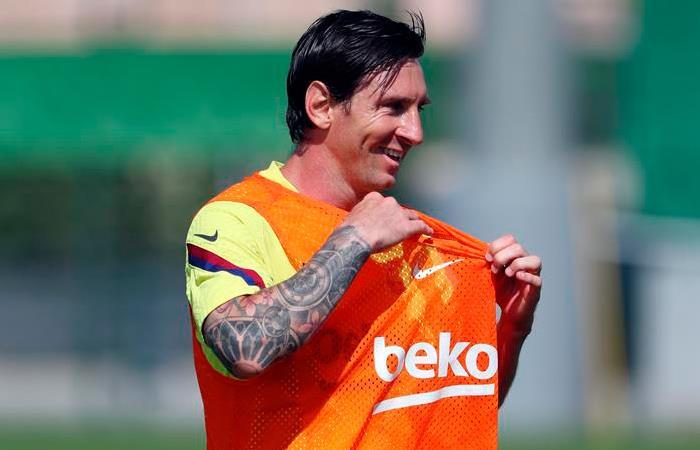 Lionel Messi, jugador de Barcelona. Foto: EFE