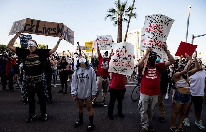 Las protestas también se trasladaron a Los Ángeles, California. (). Foto: EFE