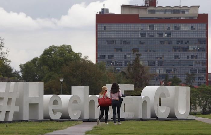 Vista general de una explanada de la Universidad Nacional Autónoma de México. (). Foto: EFE
