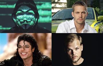 """Lista de famosos que según Anonymous fueron """"silenciados"""" con misteriosos fallecimientos"""