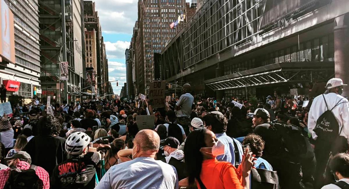 Continúan las protestas en EE.UU. Foto: Twitter