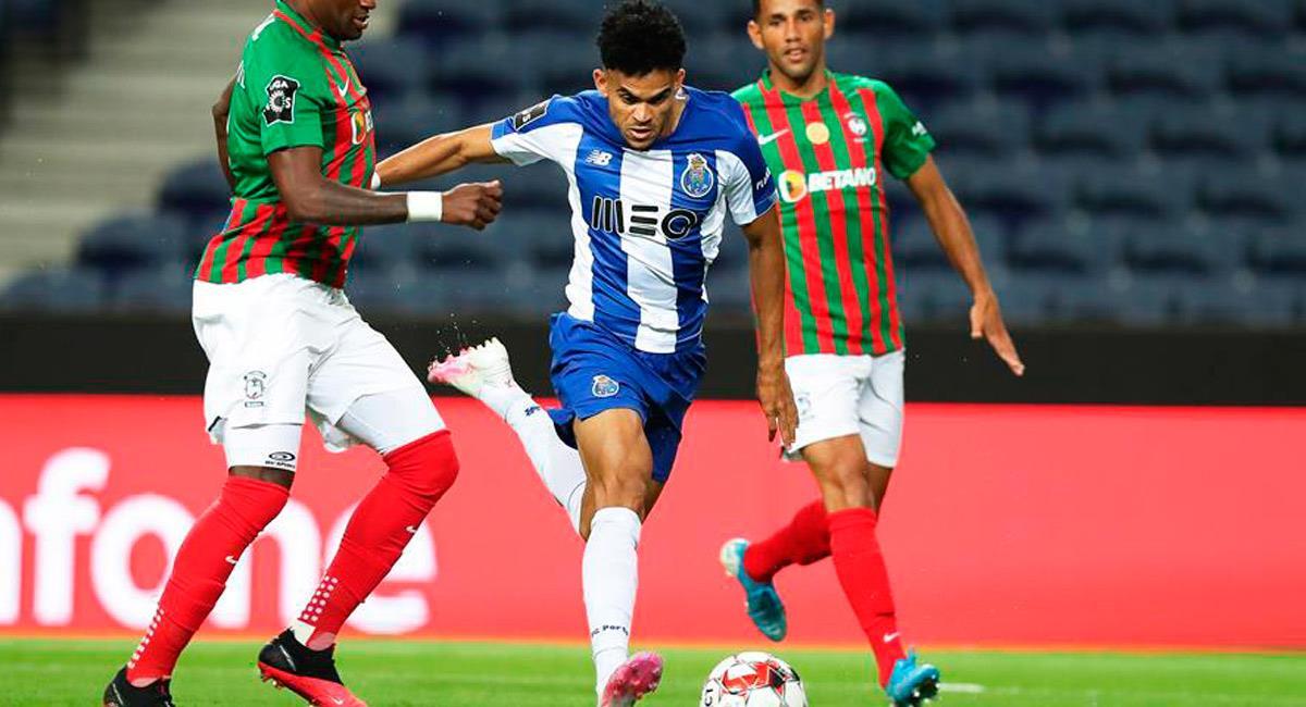 Luis Díaz en el partido ante Marítimo. Foto: EFE