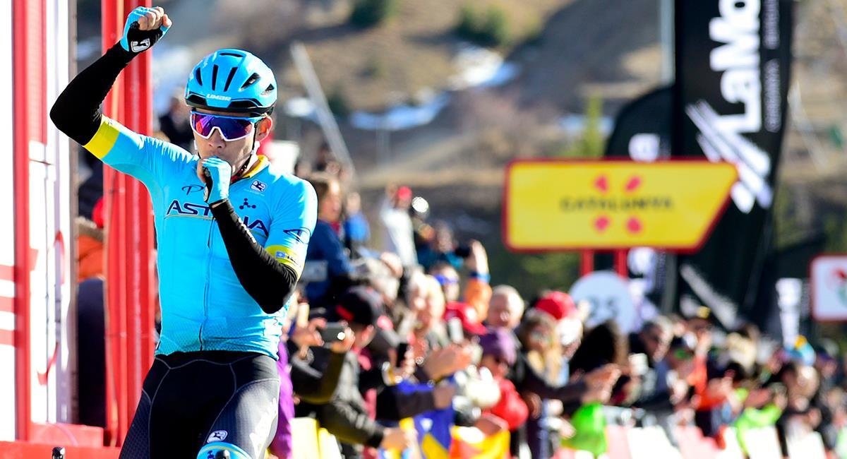 'Superman' López quiere conseguir un resultado importante en su primer Tour de Francia. Foto: Twitter @SupermanlopezN