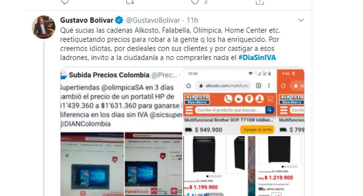 Siguen llegando denuncias. Foto: Twitter @GustavoBolivar