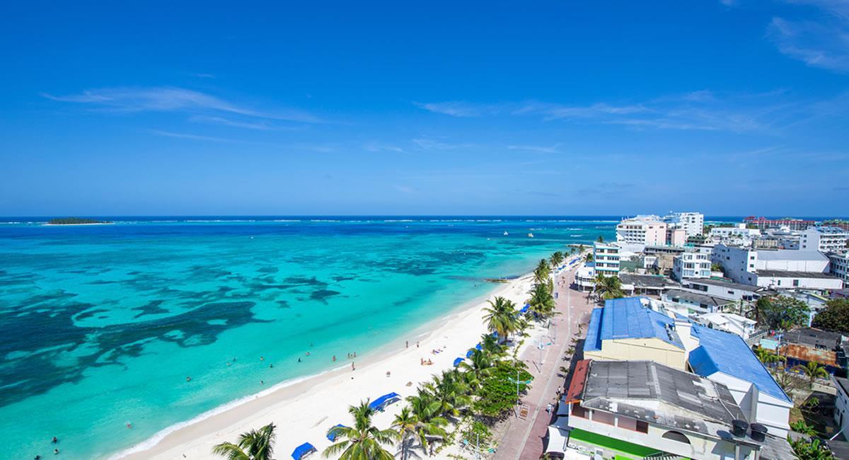 San Andrés, es la isla que contiene aguas del Pacífico. Foto: Shutterstock