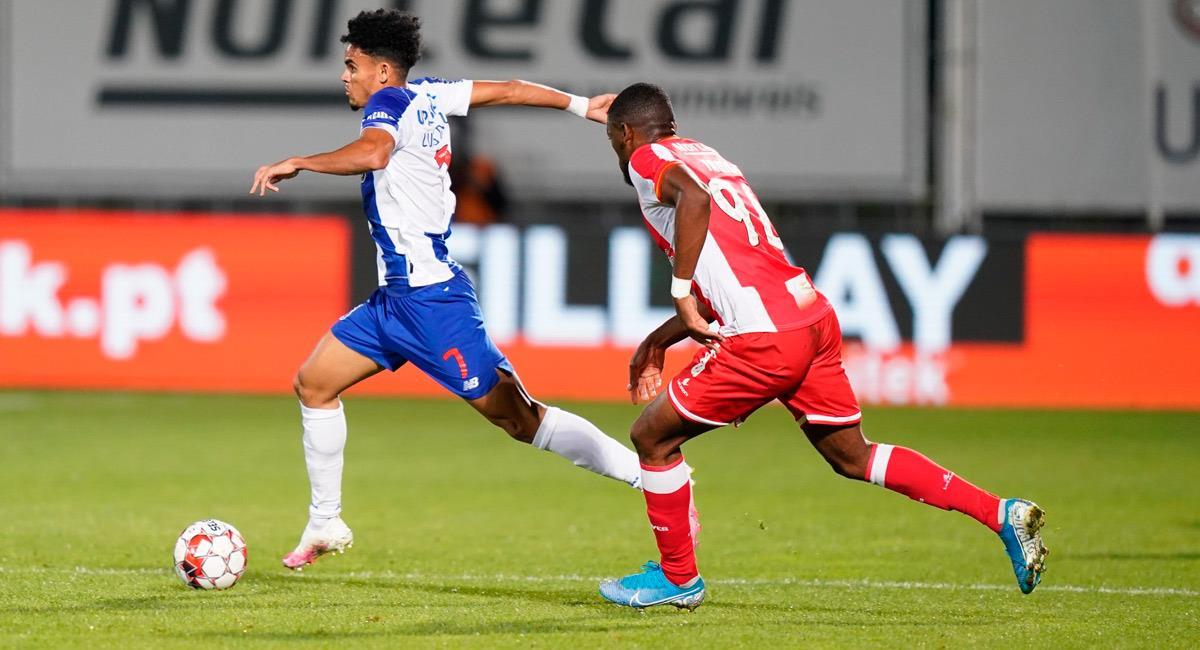 Luis Díaz en el partido ante Desportivo Aves. Foto: Prensa Porto
