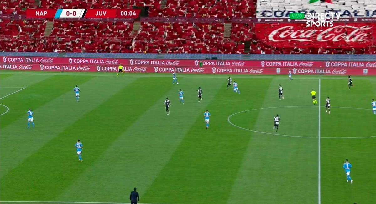 Así lucía el Estadio Olímpico de Roma. Foto: Video Twitter Directv Sports