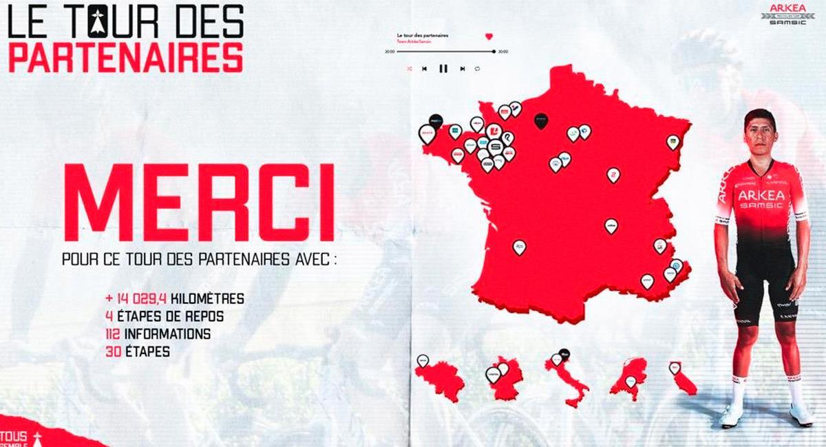 Nairo Quintana será el líder de su equipo en el Tour de Francia. Foto: Prensa Arkea Samsic