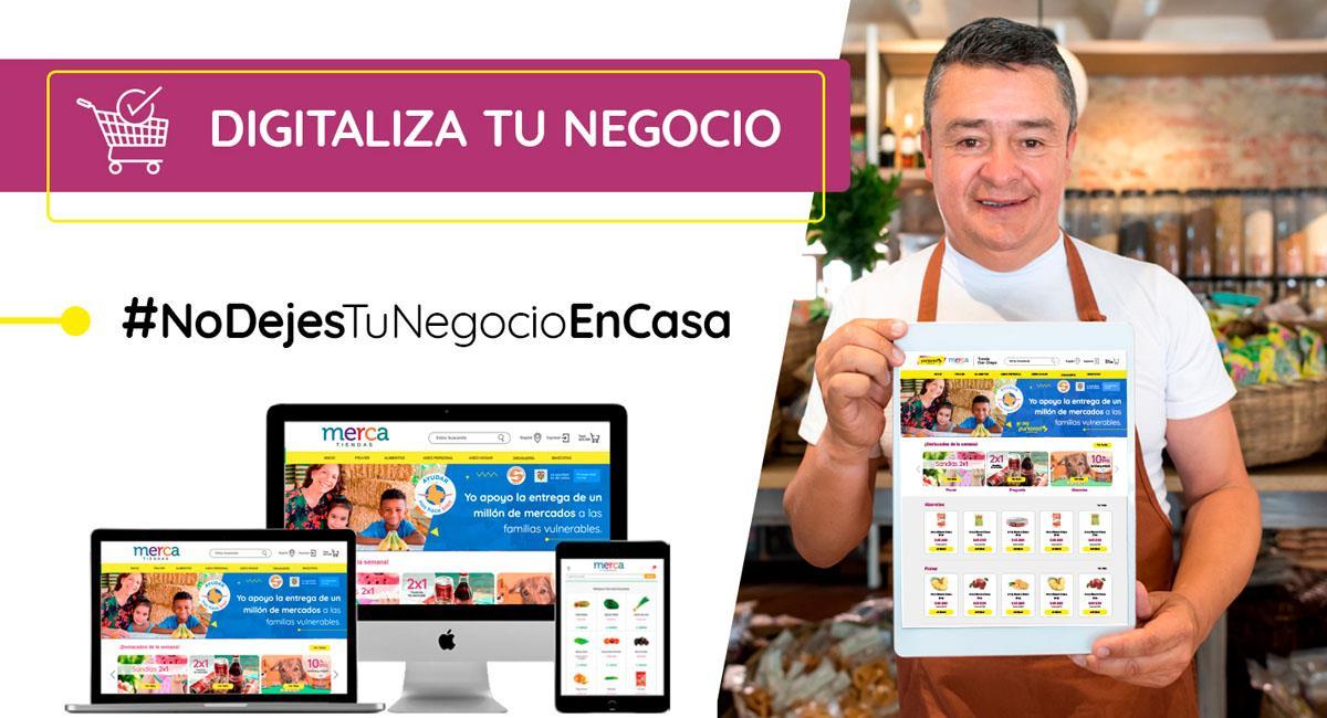Los tenderos podrán crear su propio negocio virtual en esta cuarentena. Foto: Cortesía Puntored