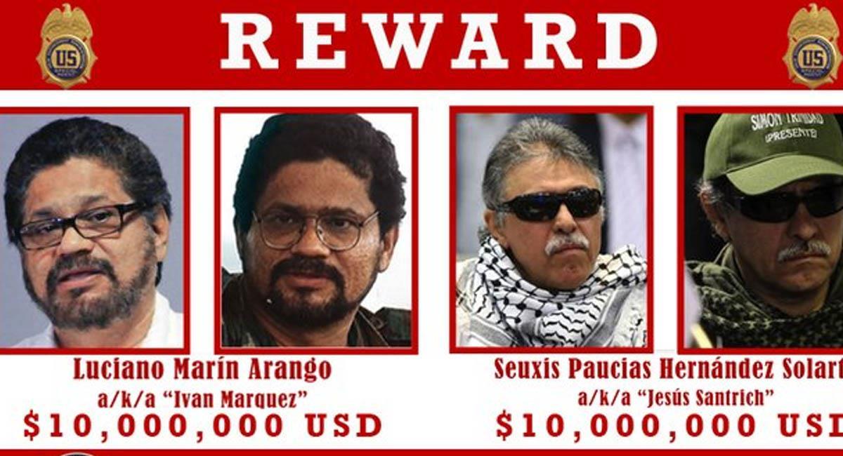 'Márquez' y 'Santrich' se retiraron del acuerdo de paz firmado en 2016. Foto: Secretaria de Estado de EE.UU.