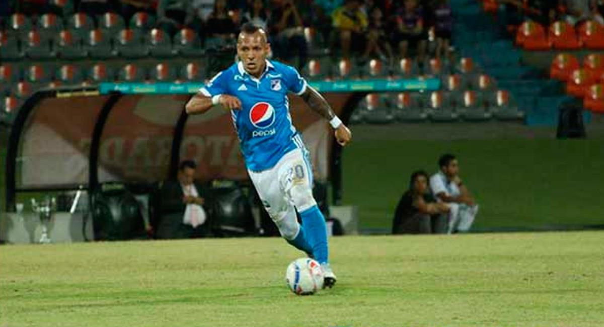 'Caracho' Domínguez con la camiseta de Millonarios. Foto: Redes Sociales MundoMillos.com