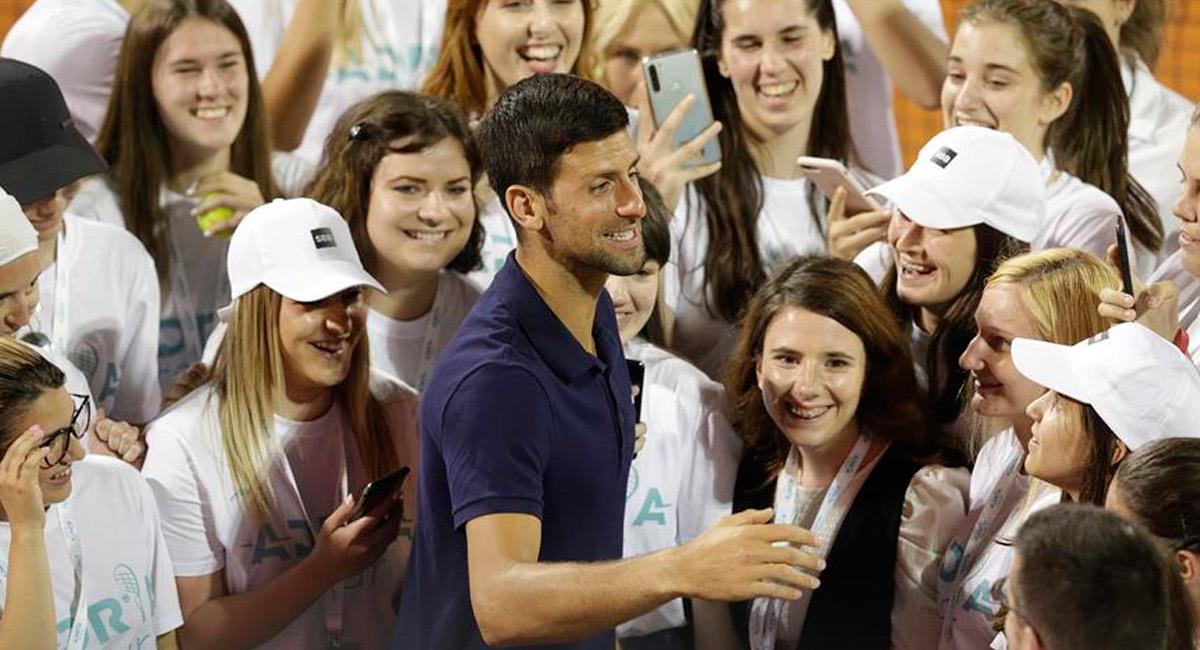 Novak Djokovic, jugador serbio de tenis. Foto: EFE