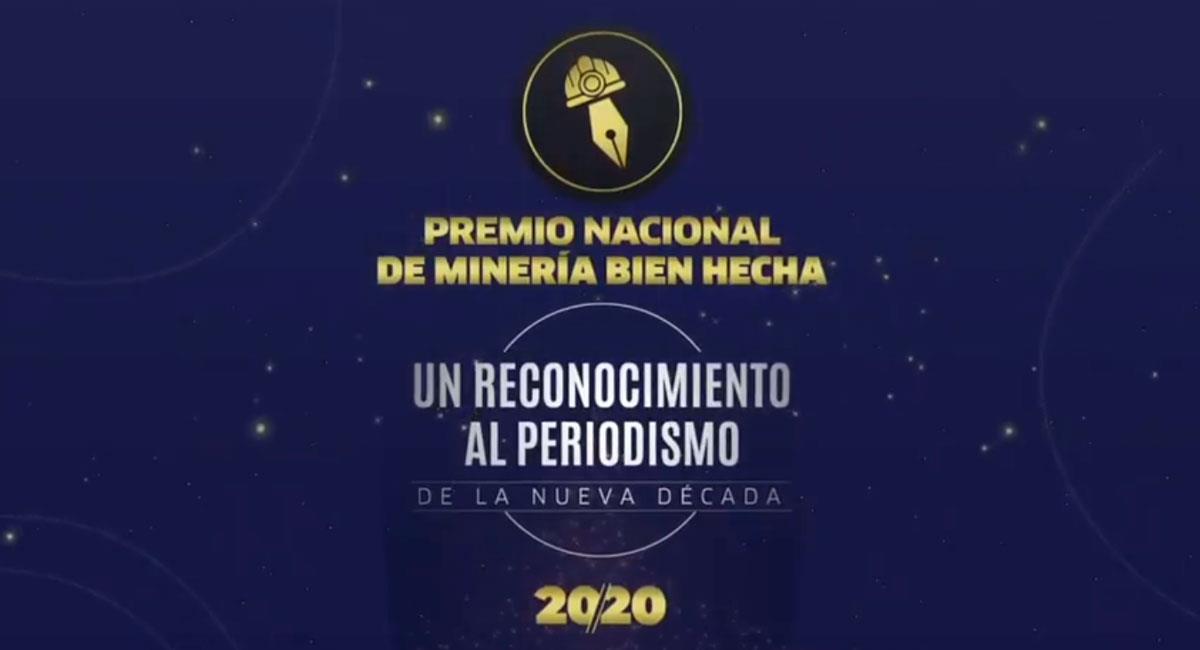 Premio Nacional del Periodismo Minería Bien Hecha 2020. Foto: VitriCristales.