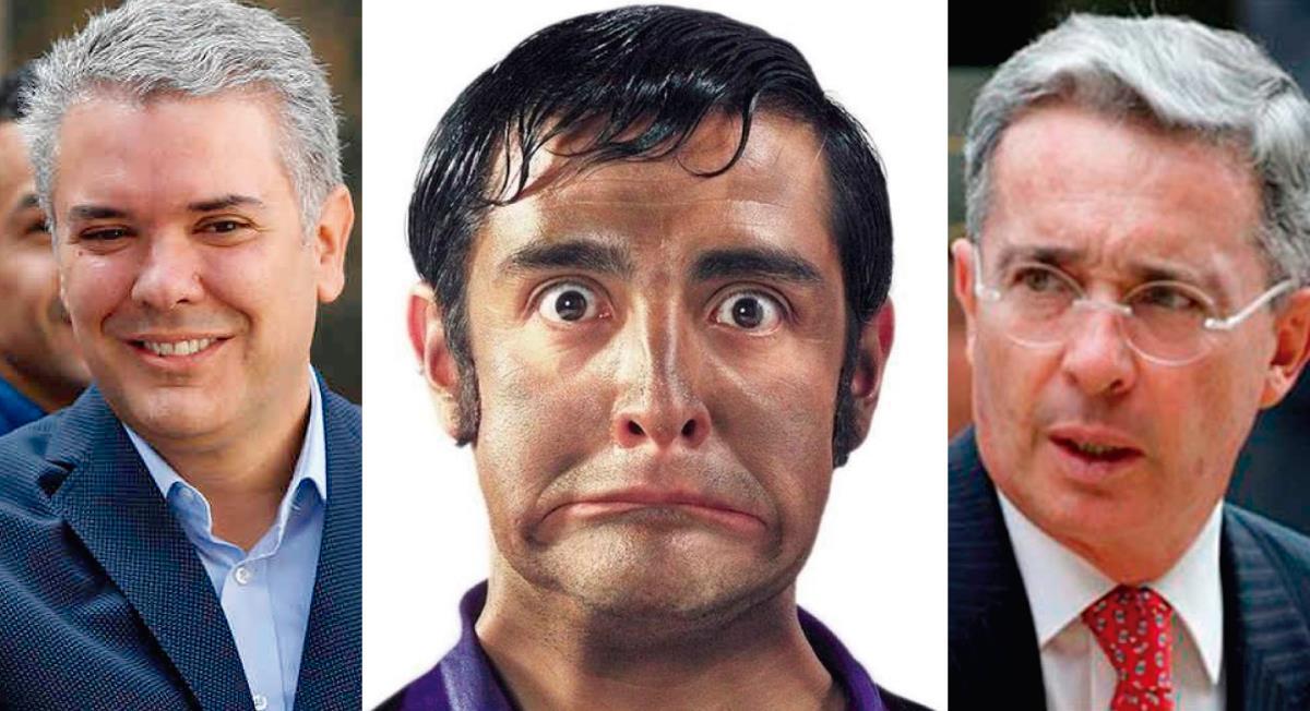 Iván Duque, Jaime Garzón y Álvaro Uribe. Foto: Twitter @Caromunozb @HOLLMANMORRIS