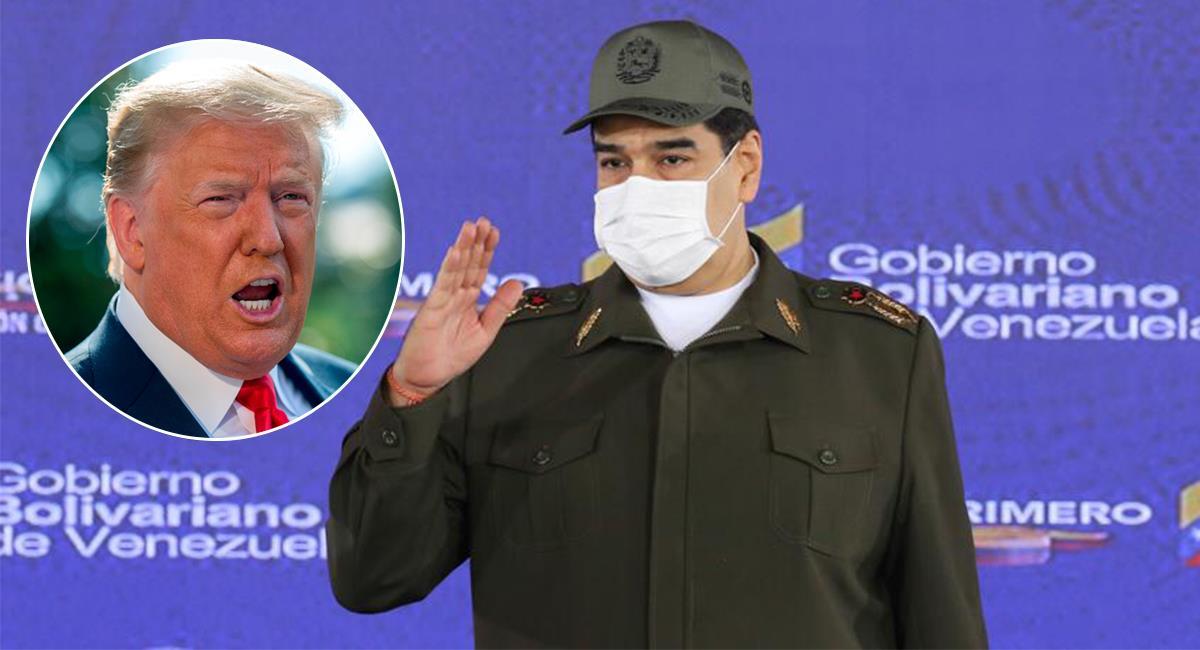 Trump y Maduro podrían reunirse tras la pandemia. Foto: EFE /Twittter @NicolasMaduro