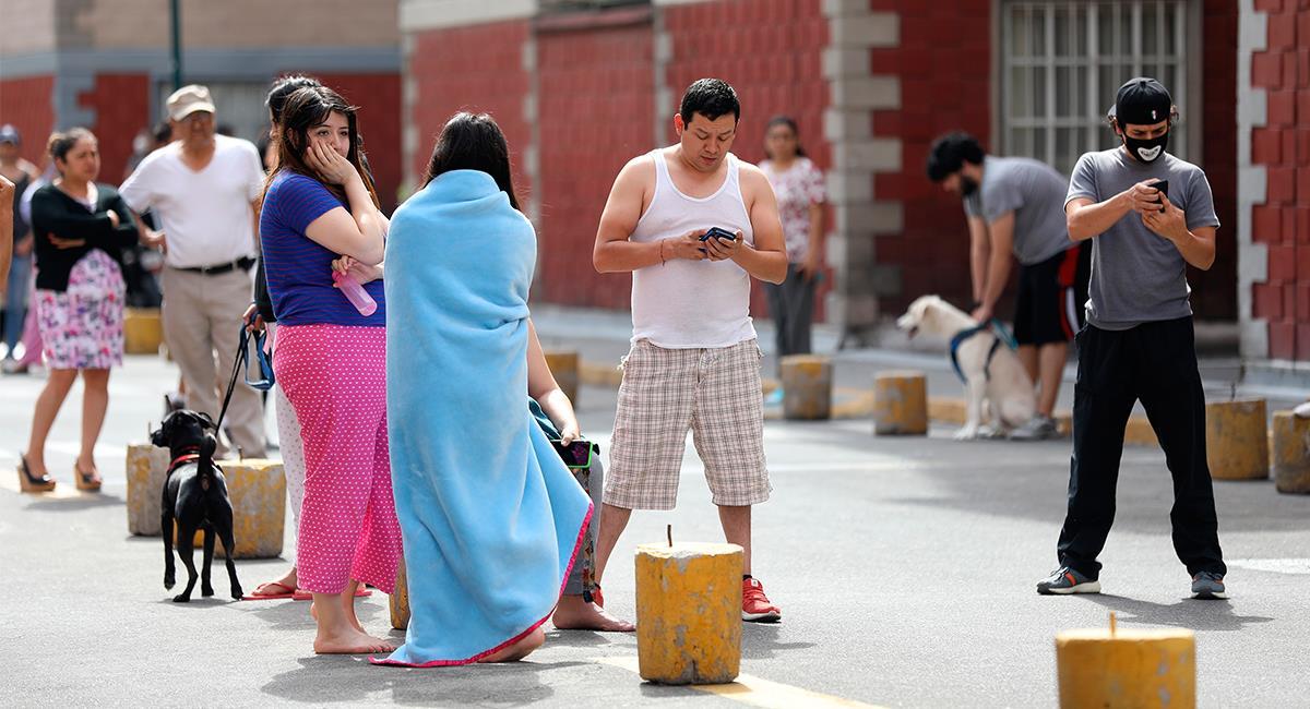 El sismo en México se sintió con mucha fuerza en el sur y el centro del país. Foto: EFE