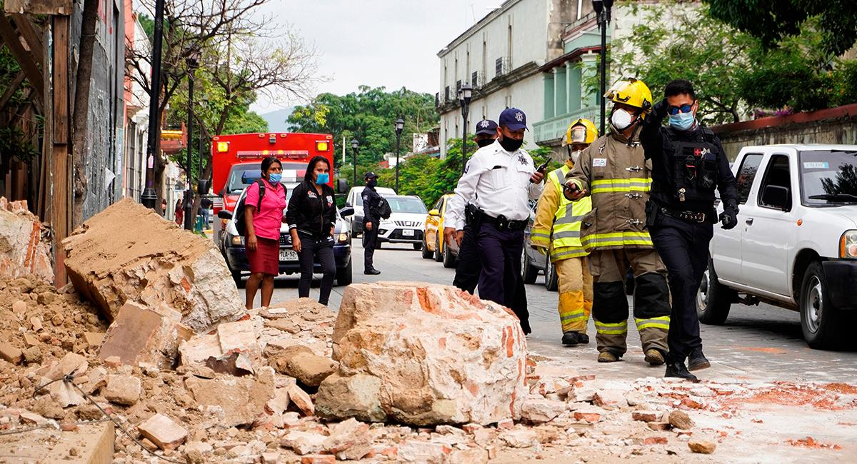 México sufrió un fuerte sismo de 7.5 grados en la escala de Richter. Foto: EFE