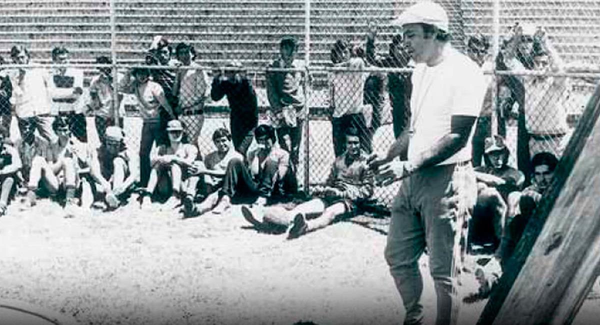Leonel Montoya en sus épocas de entrenador. Foto: Prensa Liga de Quito