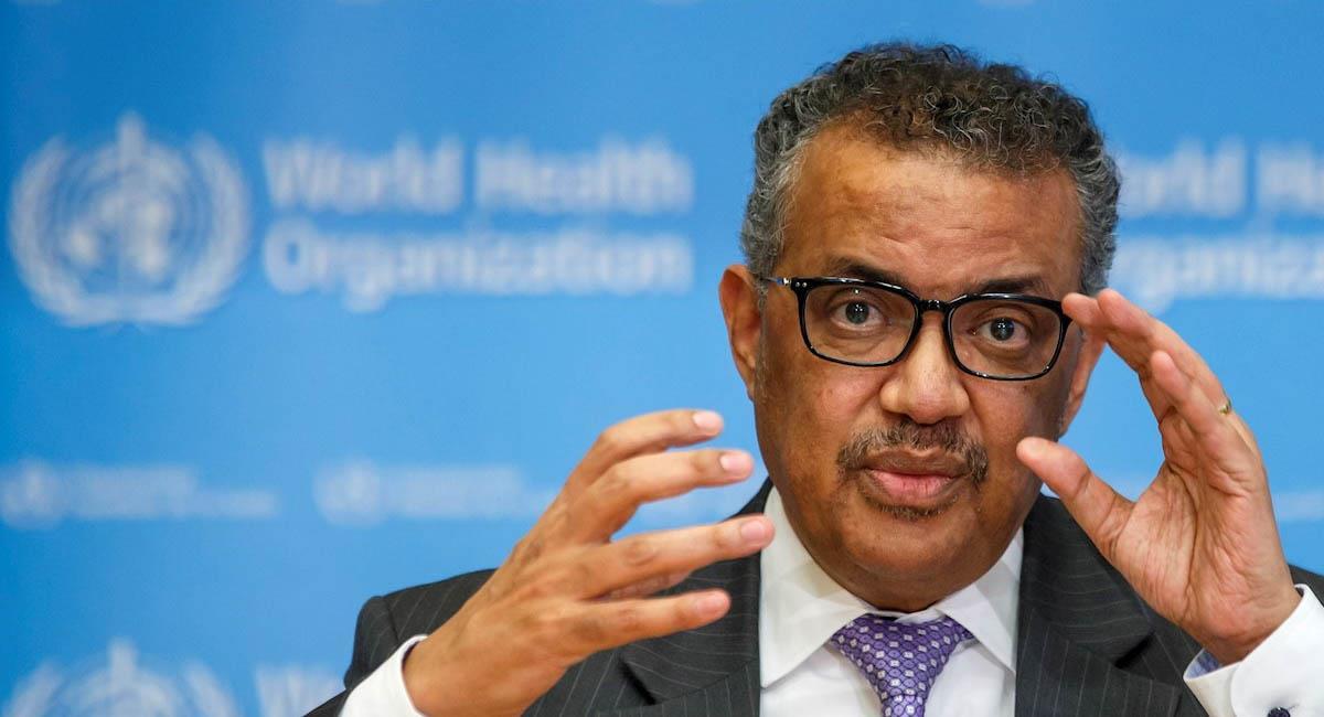 El director general de la Organización Mundial de la Salud (OMS), Tedros Adhanom Ghebreyesus. Foto: EFE
