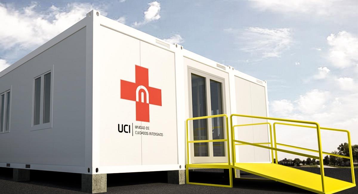 Así lucen las UCI en construcción modular. Foto: Prensa DEM Group