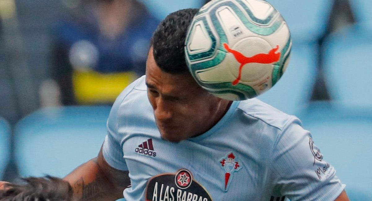 Jeison Murillo en acción con Celta de Vigo. Foto: EFE