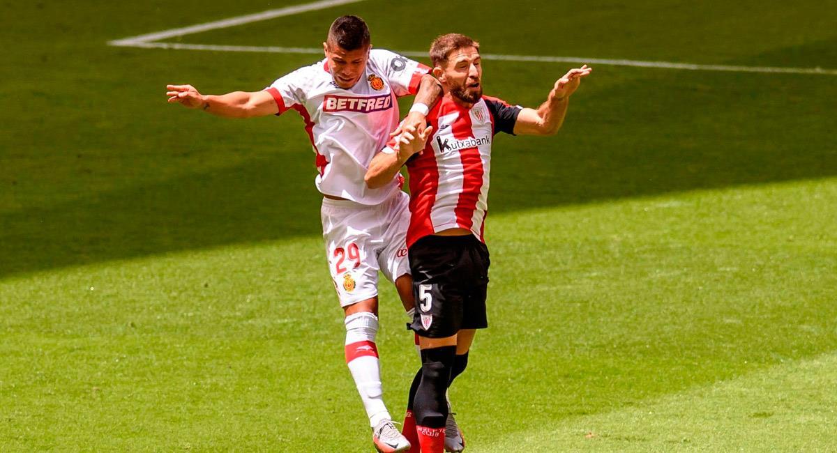 El 'Cucho' Hernández en el partido ante Athletic. Foto: EFE