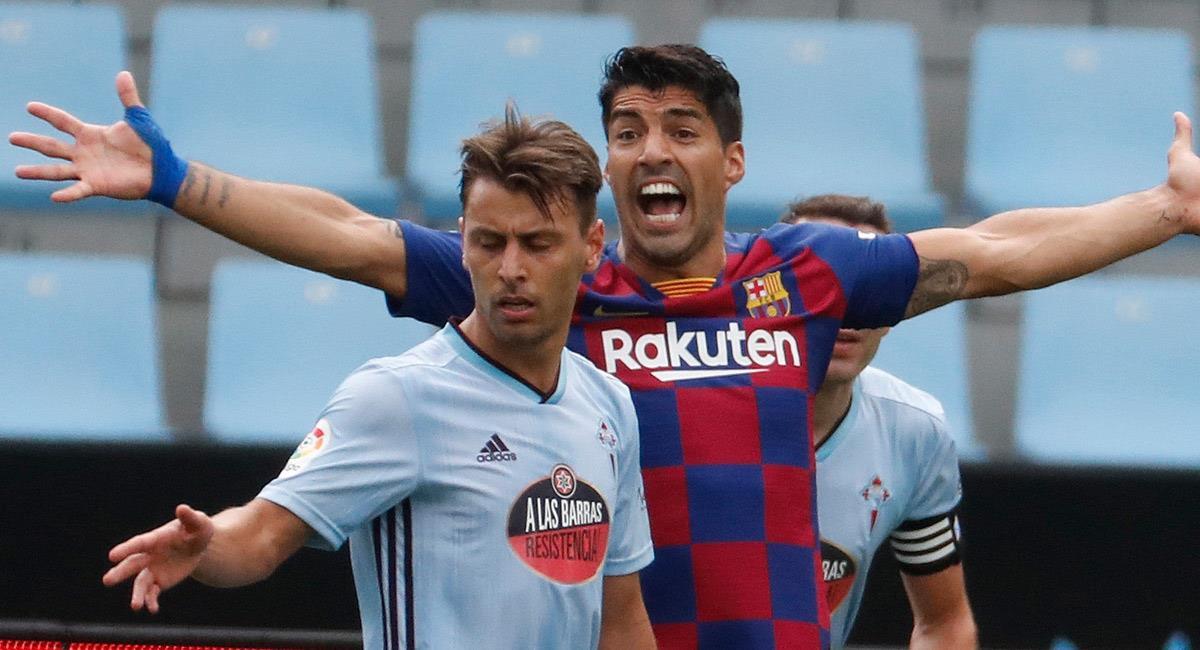Luis Suárez en el partido ante Celta de Vigo. Foto: EFE