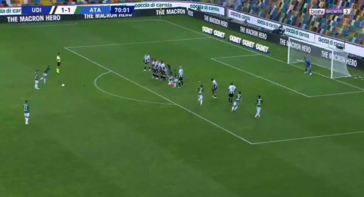Goles de Duván Zapata y Luis Muriel. Foto: Twitter Captura pantalla Bein Sports