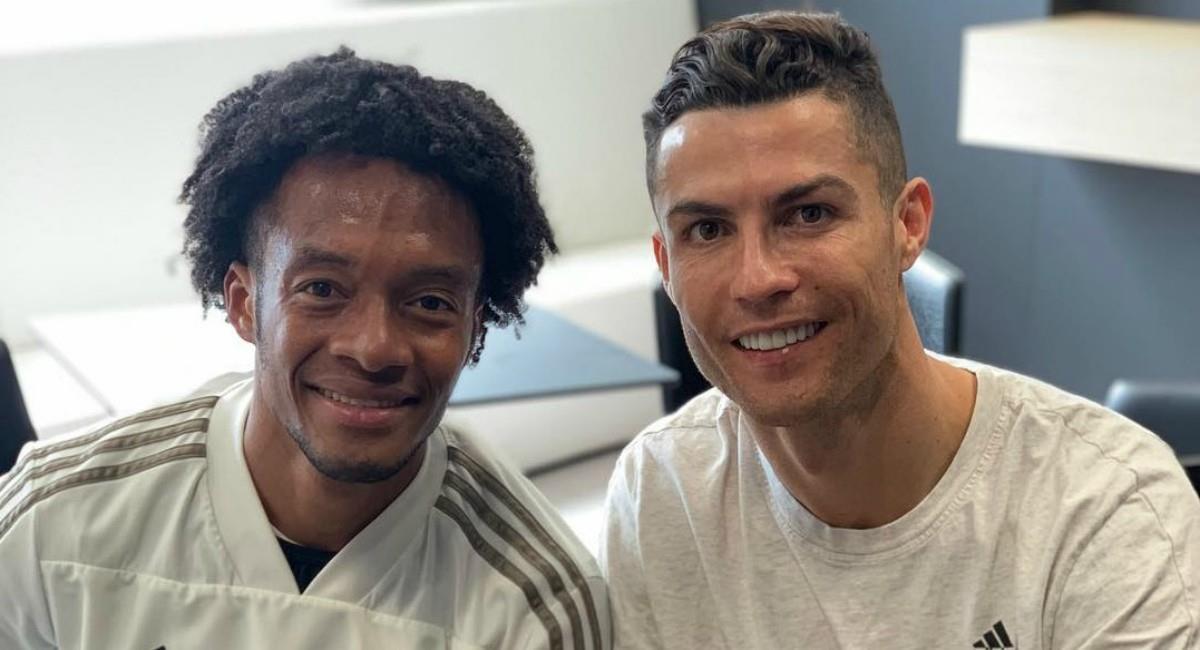 Cuadrado invita a Cristiano a Colombia. Foto: Instagram Prensa redes Juan Cuadrado
