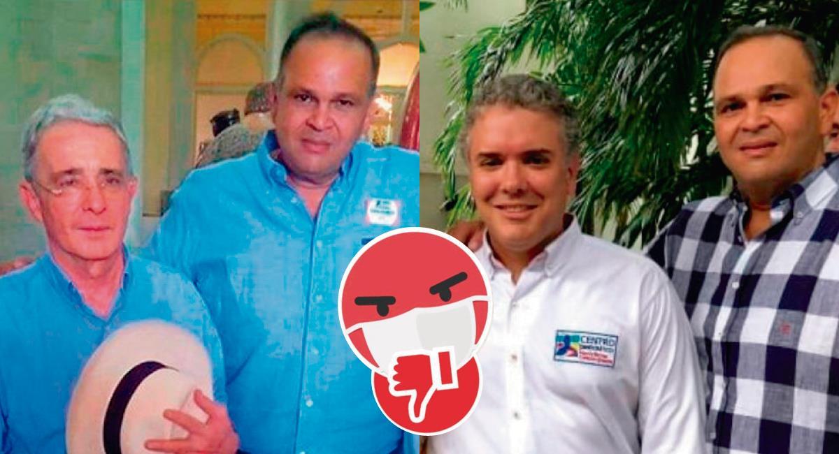 Escándalos en Colombia. Foto: Twitter @katy_666/@Eclides3
