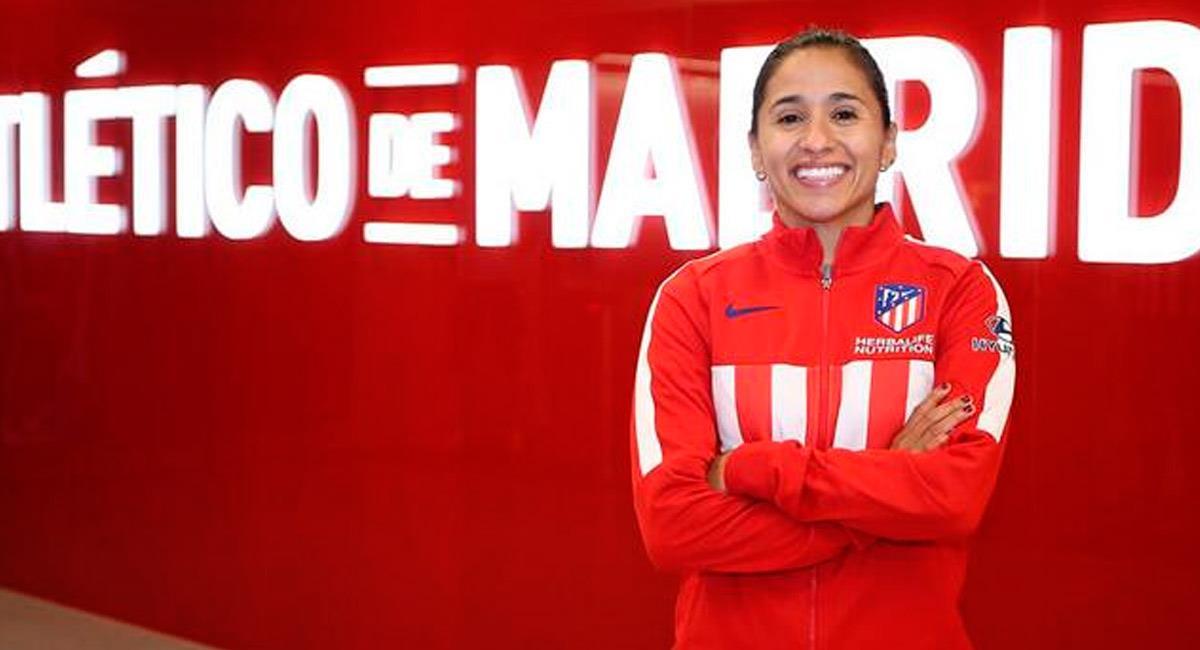 Carolina Arias, jugadora de fútbol colombiana. Foto: Prensa Atlético de Madrid