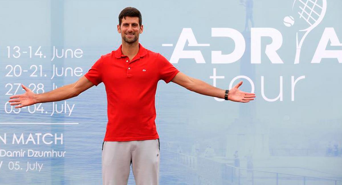 Novak Djokovic está contagiado del nuevo coronavirus. Foto: EFE